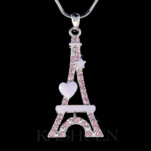 Tour Eiffel Paris France 3D 925 Sterling Silver Charm pendentif made in USA
